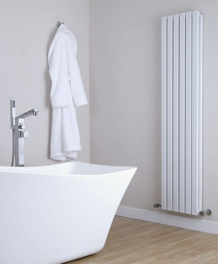 Hudson Reed Sloan Wall Panel Radiator Remodelista The Sloan White Vertical Double-Panel Radiator by UK company Hudson Reed.