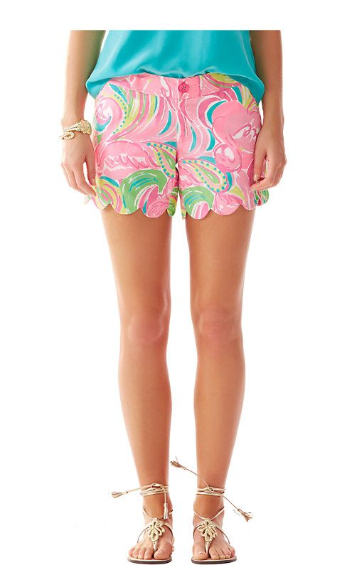 Lilly Pulitzer 5 Inch Buttercup Scallop Hem Short in All ...