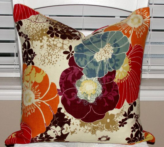 Designer Throw Pillow Cover 18x18 Richloom Amelia Graffiti