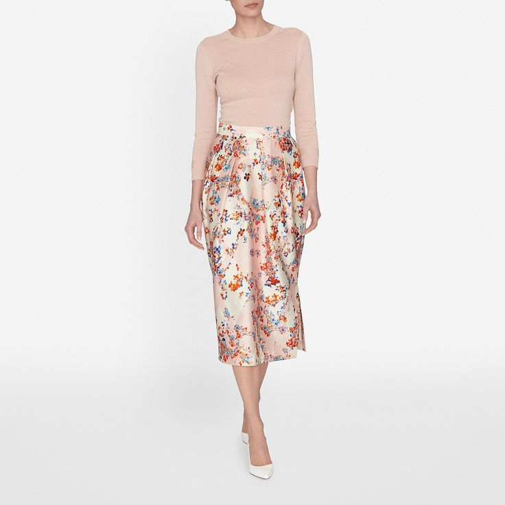 Tiara Skirt in Pastel Peach | Clothing | Collections | L.K.Bennett, London