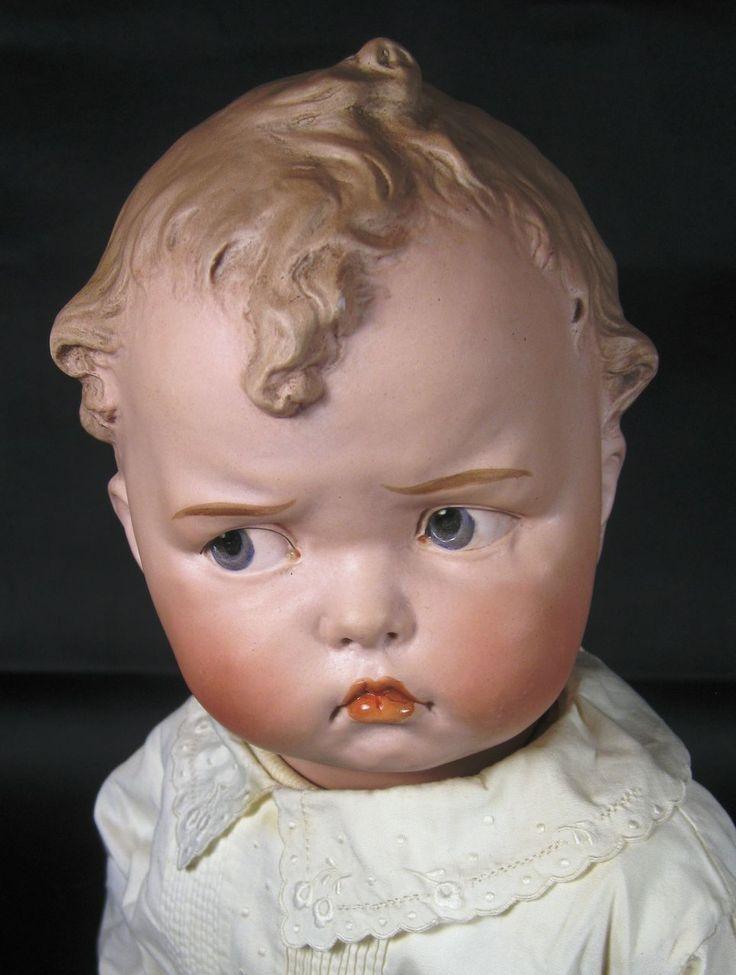 Antique Grumpy Gebruder Heubach 8548 Mold German Doll ~ RARE!
