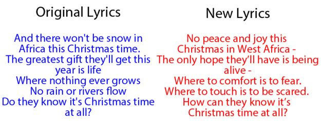 """And the third verse that everyone sang together has been changed. 