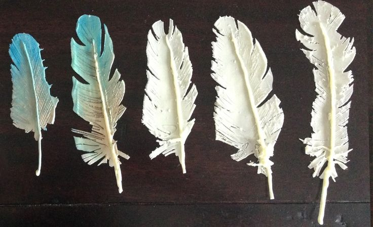 chocolate decorations feather