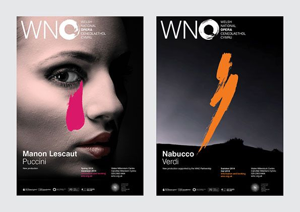 Welsh National Opera 02 / identity by Hat Trick Design. via It's Nice That #identity
