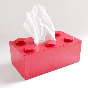 Una caja para pañuelos con forma de lego :D