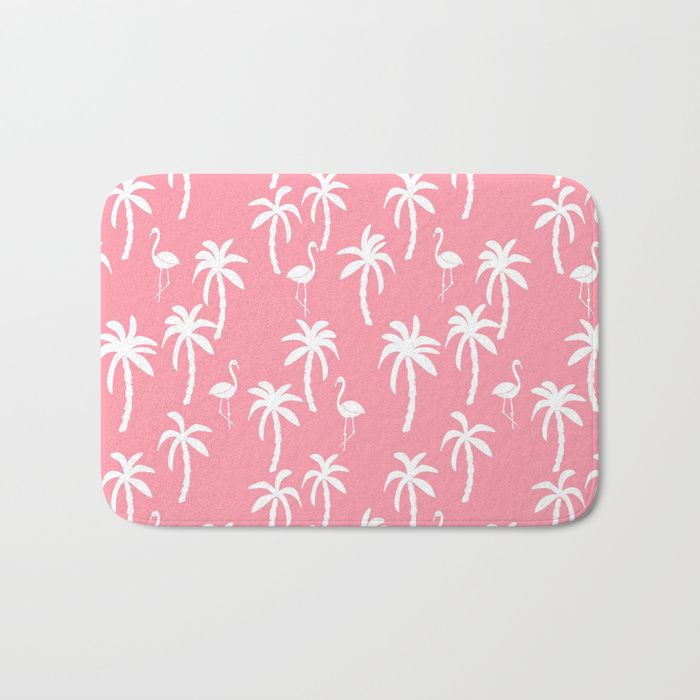 Buy Tropical flamingo and palm trees pattern by andrea lauren cute illustration summer patterns pink Bath Mat by andrealaurendesign. Worldwide shipping available at Society6.com. Just one of millions of high quality products available.