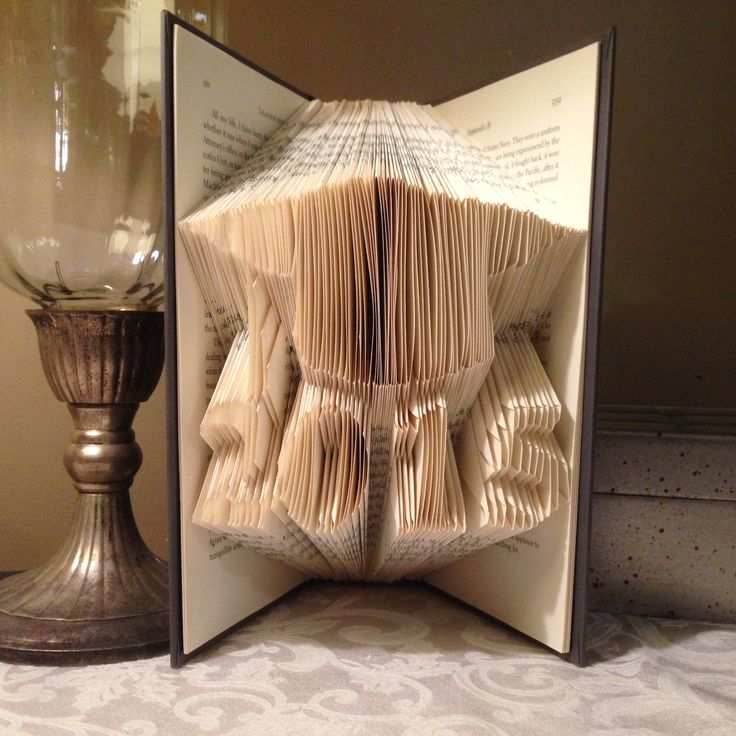 Graduation Hat with Year folded book art