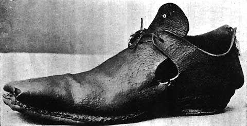 17th century  men's shoes.                                                                                                                                                                                 More