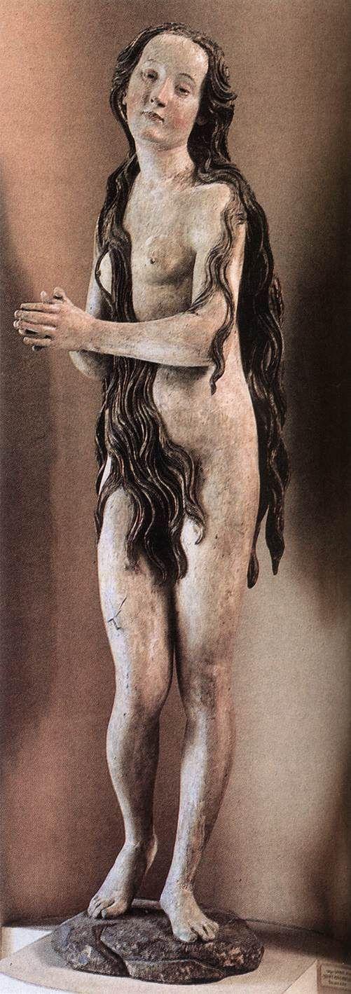 ERHART, Gregor  (b. 1460/79, Ulm, d. 1540, Augsburg)       Mary Magdalene    c. 1500  Polychrome limewood  Musée du Louvre, Paris