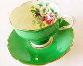 Green Paragon Tea Cup