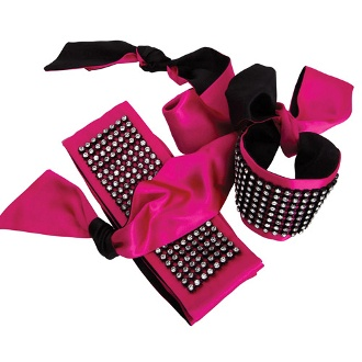 riva camille luxury blindfold pink