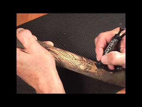 How to Carve a Walking Stick With a Turbo Carver