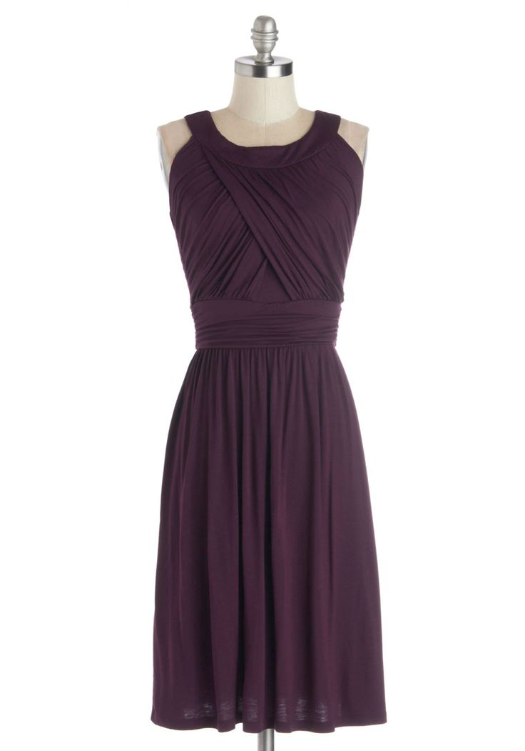 So Happy to Gather Dress in Plum. Nothing makes you gladder than your pals, especially when you're hanging with them in this pretty plum dress! #purple #modcloth