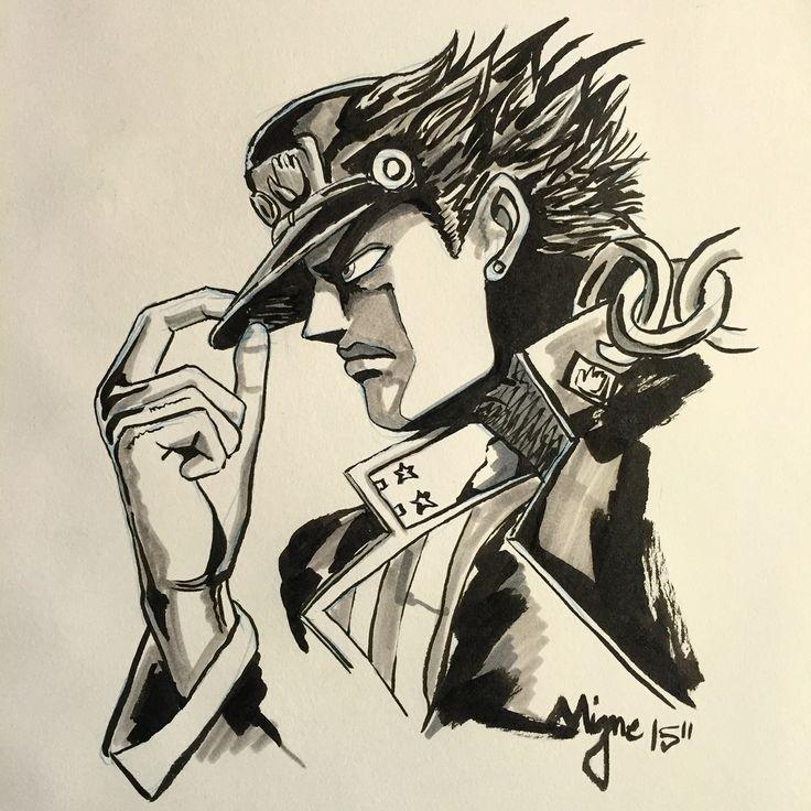 #1sketchperday N134 : Jotaro Kujo  #1day1sketch #illustration #art #graphic #sketch #picoftheday #artoftheday #graphicdesign #design #geek #geekart #illustrator #thedesigntip #draw #drawing #manga #anime #fight #blackink #pencil #pen #otaku #jojo #chinese #japan #jotaro #joestar #dio #stand #jotarokujo