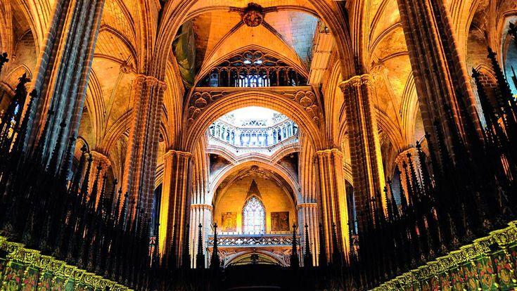 L'interior de la Catedral de Barcelona