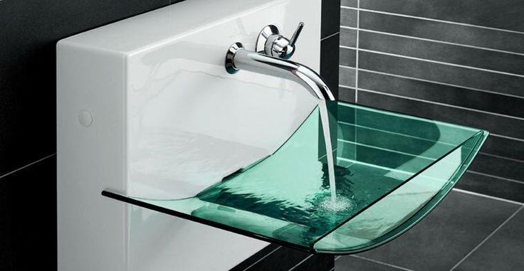Pin 3: This glass sink is very common to gives a luxury and fancy look to the places, mostly in bathrooms.