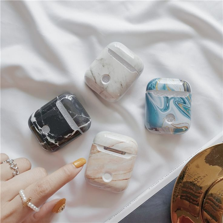 Luxury Agate Marble Hard Case For Apple Airpods Case Protective