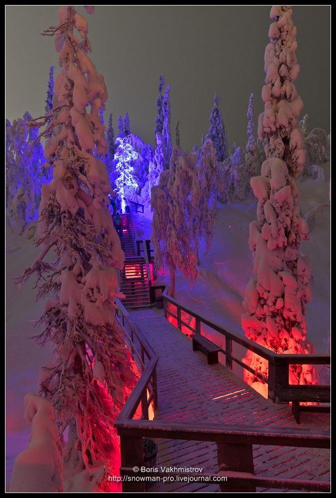 В Кировске открылся арт-парк «Таинственный лес» https://www.hibiny.com/news/archive/154736/  Художественная инсталляция, создатели которой хотят подчеркнуть естественную красоту заполярной природы, расположится в районе южного склона горнолыжного комплекса Большой Вудъявр, не доезжая до первого