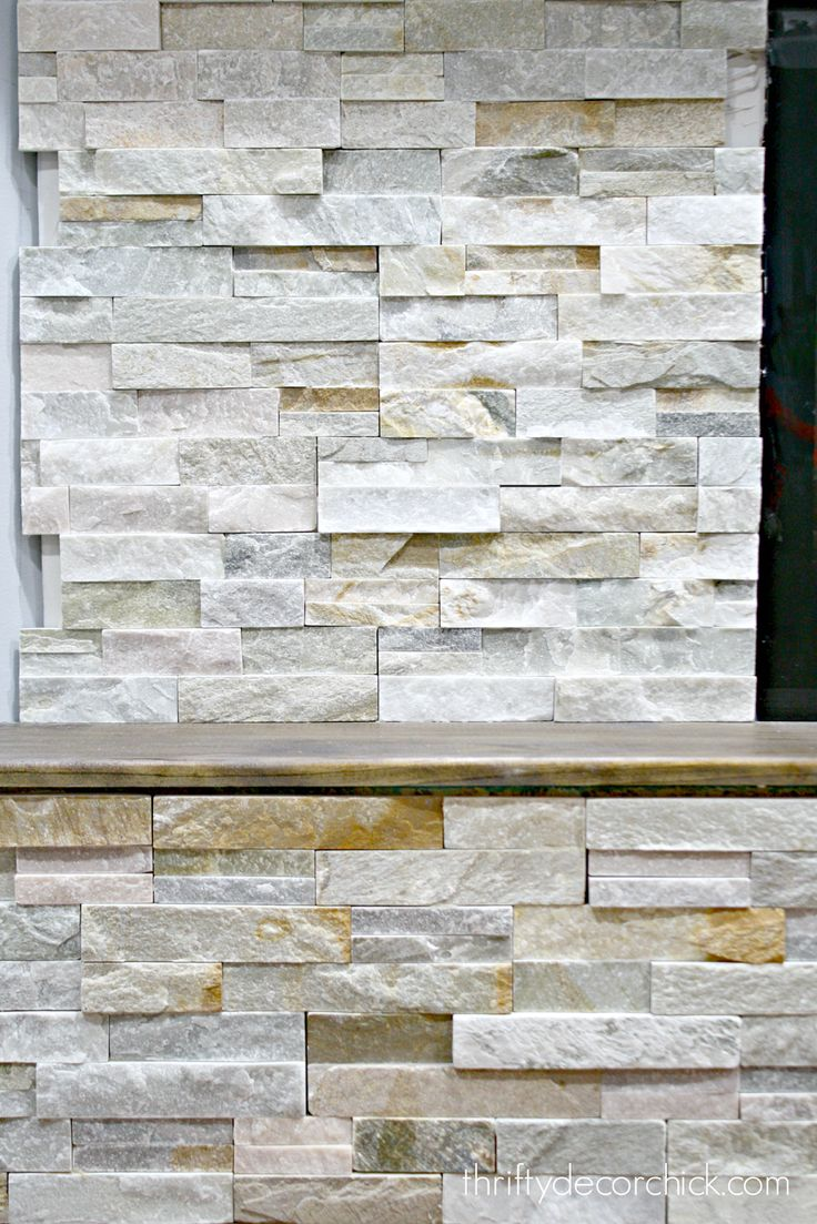 How to install stacked stone tile on a fireplace wall - 17 Best Ideas About Stone Fireplace Makeover On Pinterest