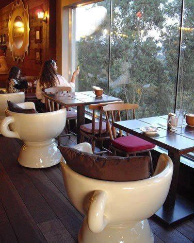 love the coffee cup chairs....they'd look great in a coffee shop attached to my future book store!