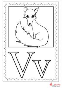 Litera V - Planșă de colorat