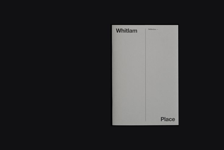Reflection, a brochure designed by Studio Hi Ho for Fitzroy development Whitlam Place