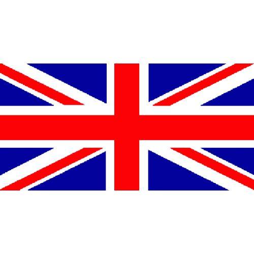 """Dit is de vlag van Engeland. Hij heet: """"The Grand Union Flag"""". Het is ontworpen door koning: George ll in 1801."""