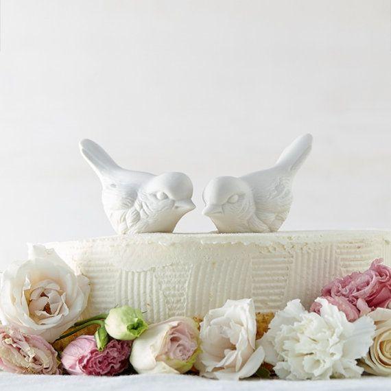 Porcelain Love Bird Cake Toppers By Redravenstudios On Etsy 4200