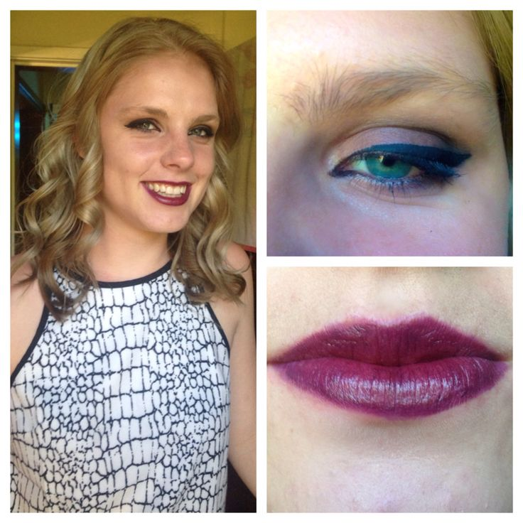 Did a vampy look on a friend of mine
