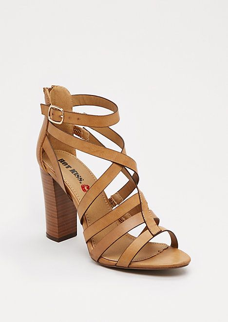 Tan Strappy Stacked Heel By Hot Kiss Rue21 Walk Tall