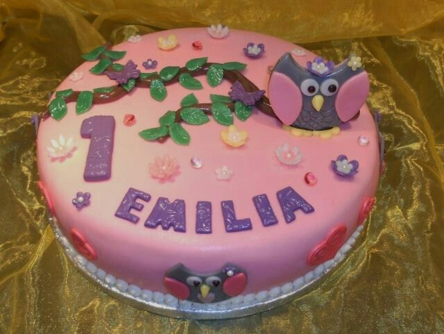 Eulen Torte zum 1.Geburtstag