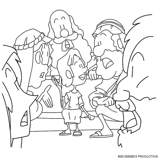 Young Boy Jesus In The Temple Coloring Page Luke