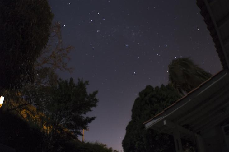 O céu iluminado em Itu, SP, Brasil