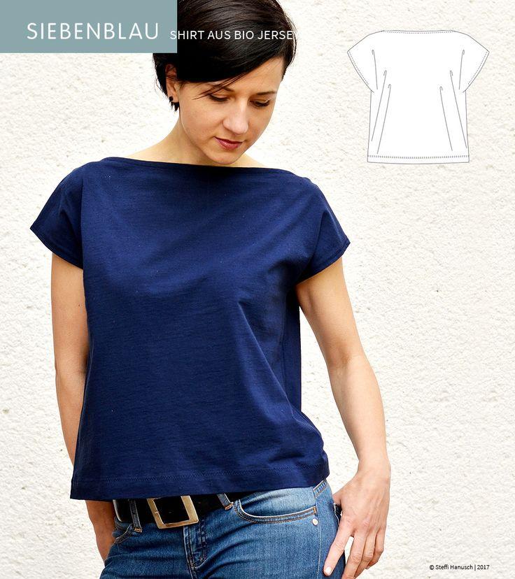 diy siebenblau shirt fr jersey stoffe mit einer kostenlosen nhanleitung