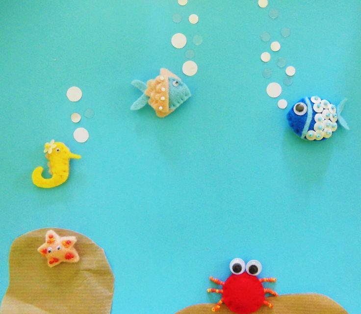pesci, stelle marine, cavallucci marini, granchi!