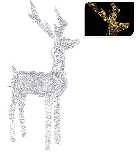 Renne 100 cm 100 LED Blanc chaud extérieur lumineuse décorations Noël Noël