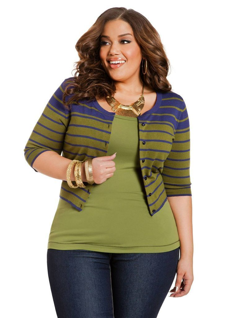 Love the colors, would also like the cardy in a longer length. I have a purple pencil skirt to go with it perfectly.