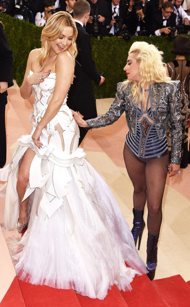 Kate Hudson & Lady Gaga from Candid Moments From Met Gala 2016  It looks like Gaga went a little gaga over Hudson's backside (and we can't blame her).