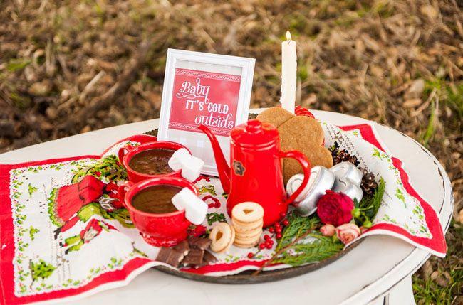 Swedish St. Lucia/Christmas wedding inspiration - loving the marshmallow garnish