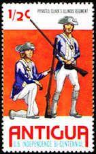 Antigua 423 Stamp Privates, Clark's Illinois Regiment C ANT 423-1 MNH