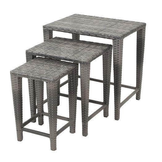 Home Loft Concept Helsinki 3 Piece Nesting Tables Set