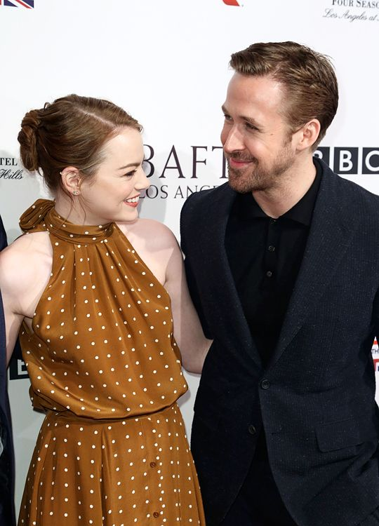 """Emma Stone and Ryan Gosling attend The BAFTA Tea Party at Four Seasons Hotel Los Angeles at Beverly Hills on January 7, 2017 in Los Angeles, California. """