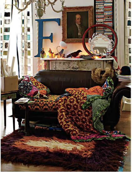 eclectic living room: Spaces, Boho Chic, Living Rooms, Couch, Dream, Color, Decoration Idea, Rugs, Design