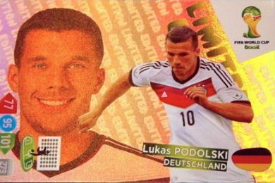 Adrenalyn XL World Cup Brazil 2014 Lukas Podolski Argentina Limited Edition Trading Card