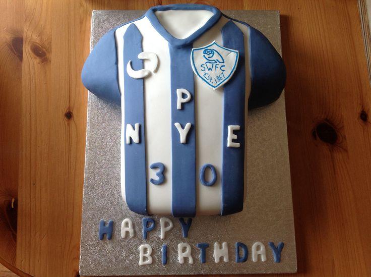 Sheffield Wednesday football shirt cake