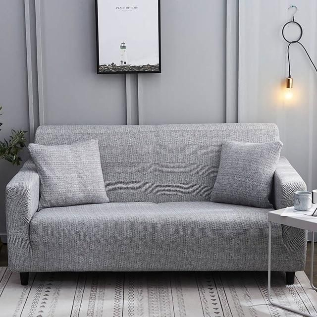 Calming Grey Waterproof Sofa Slipcover In 2020 Couch Covers Floral Sofa Sofa Covers