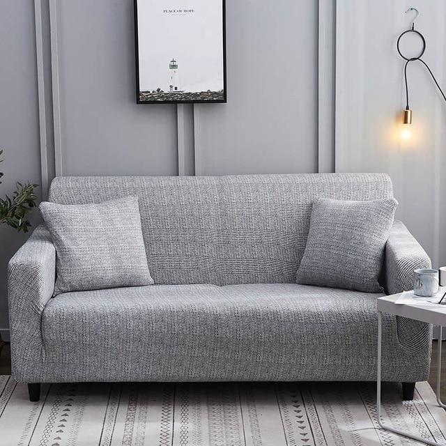 Calming Grey Waterproof Sofa Slipcover In 2020 Sofa Covers