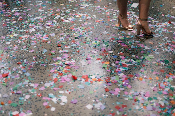 Pretty Flamingo Photography. Vintage Ballarat Wedding. Confetti.