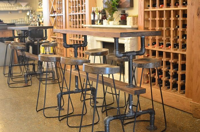 Custom Made Industrial Farmhouse Bar Table For Kitchen, Wine, Restaruant