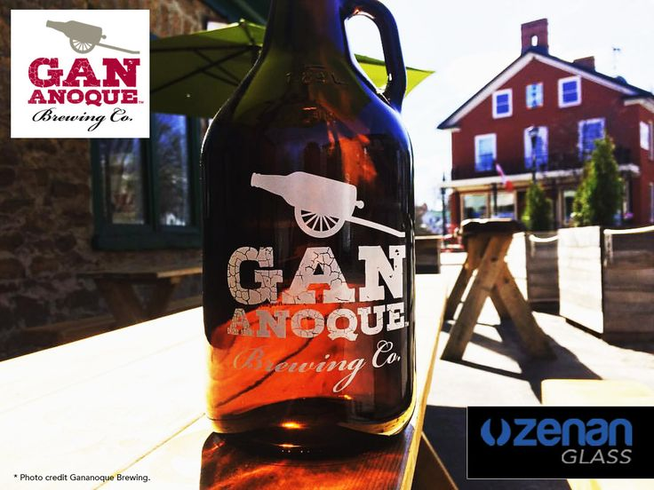 """Feature: Gananoque Brewing Co. """"Serving Eastern Ont from their brewery in Gananoque. Naughty Otter, Black Bear Bock, Thursty Pike Pilsner, Gael Ale Irish Red, Highland Bull Scottish Ale"""".  Glassware by Zenan Glass www.zenan.ca"""